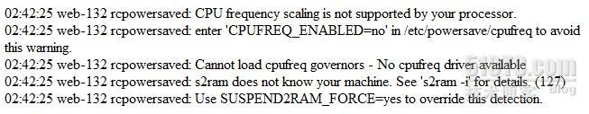SUSE 系统 CPU 节电模式 引发的故障