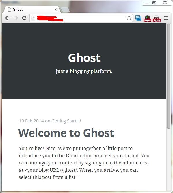 在阿里云服务器上安装 Ghost (4)-- 安装 Ghost