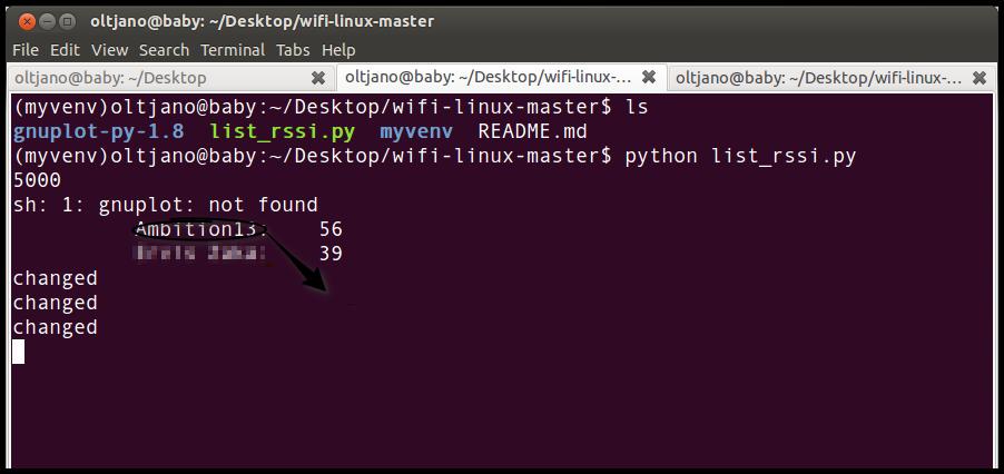 Python 下AP信号强度检测 之 wifi-linux