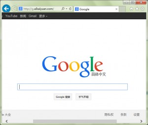nginx 反向代理 google