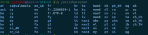 linux下man手册的安装和使用